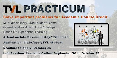 TVL Practicum Info Session: Entrepreneurship & Consulting Graduate Course tickets