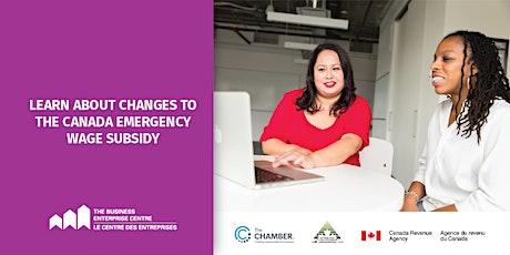 Canada Emergency Wage Subsidy (CEWS) Webinar tickets