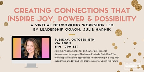 Creating Connections: a Virtual Networking Workshop led by Julie Harnik tickets