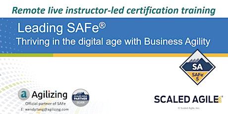 SAFe Agilist (Leading SAFe) Certification - 7:30pm-9:30pm UTC