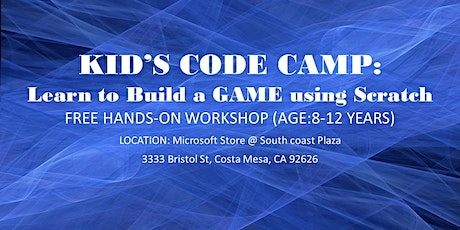 Free Virtual Kid's Code Camp (4GamesIn4Days) tickets