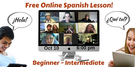 Free Online Spanish Lesson - Beginner - Intermediate tickets