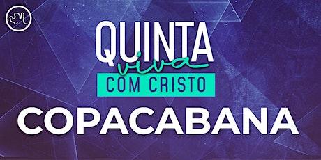 Quinta Viva com Cristo 01 Outubro | Copacabana ingressos