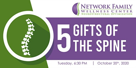 "Spinal Care Class: ""The Five Gifts of the Spine"" tickets"