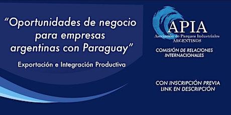 Oportunidades de Negocios para Empresas Argentinas con Paraguay tickets