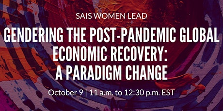 Gendering the Post-Pandemic Global Economic Recovery: A Paradigm Change tickets