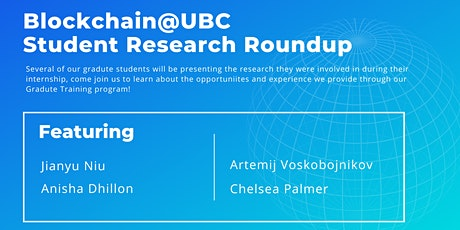 Blockchain@UBC Student Research Roundup tickets