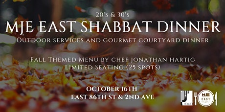 MJE East 20s & 30s Courtyard Gourmet Friday Night Dinner | Oct 16 tickets