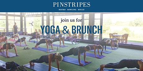 Yoga & Brunch at Pinstripes Bethesda tickets