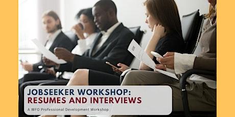 Jobseeker Workshop: Resumes and Interviews tickets