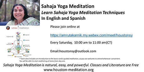 Introductory Session on Sahaja Yoga Meditation in English and Spanish tickets