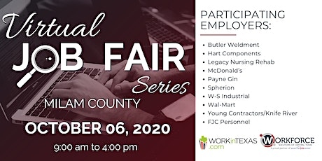 Milam County Virtual Job Fair tickets