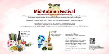 "Mid-Autumn Festival's ""Love in the World"" Meal Donation Drive tickets"