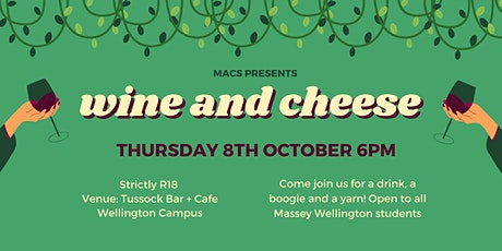 MACS Wine and Cheese tickets