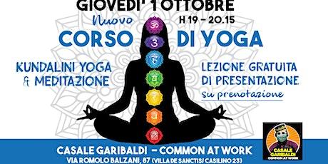 Nuovo Corso di Yoga al Casale Garibaldi biglietti