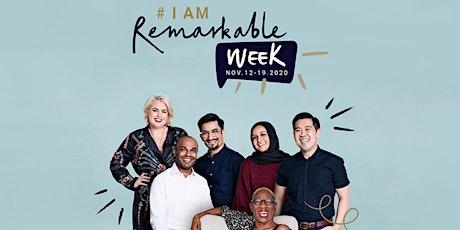 #IamRemarkable  Week 2020 - Workshop with Hannah Wilson