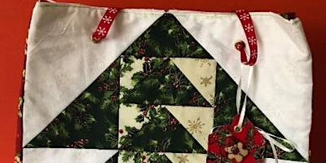 Christmas Patchwork Gift Bag tickets