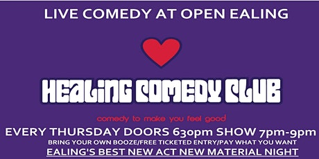 Healing Comedy Club at OPEN Ealing with Sheraz Yousaf tickets