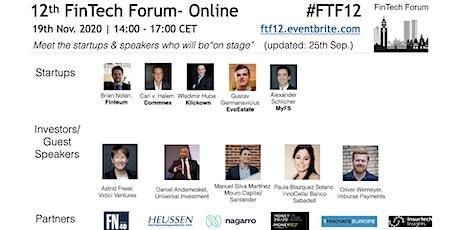 12th FinTech Forum- Online | 19th Nov. 2019 tickets