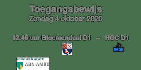 Hoofdklasse wedstrijd HC Bloemendaal zondag  4 oktober tickets