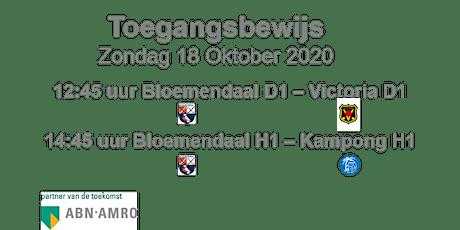 Hoofdklasse wedstrijden HC Bloemendaal zondag  18 oktober tickets