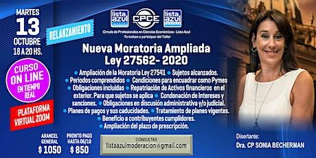 RELANZAMIENTO CURSO NUEVA MORATORIA AMPLIADA LEY 27562 2020 entradas