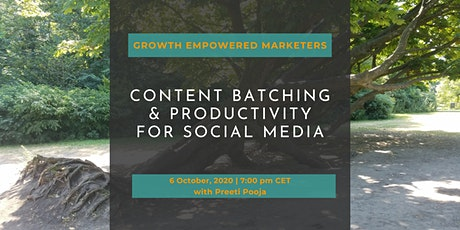 Content Batching & Productivity for Social Media tickets