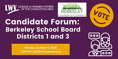Candidate Forum: Berkeley School Board Districts 1 and 3 tickets