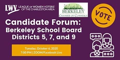 Candidate Forum: Berkeley School Board Districts 5, 7, and 9 tickets