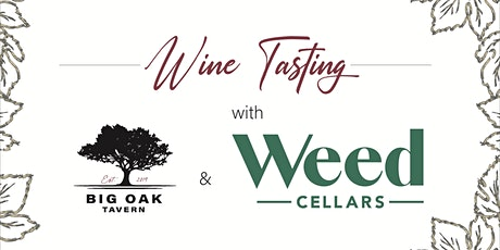 Weed Cellars Wine Private Tasting tickets