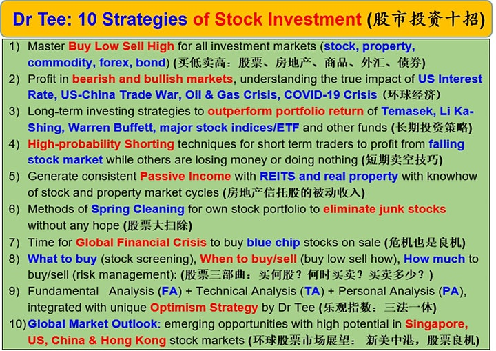 Dr Tee Webinar: 10 Secrets of Making Money in Stock, Property, Bond, Forex image