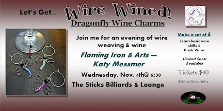 Wire Wined - Dragonfly Wine Charms Wire Class tickets