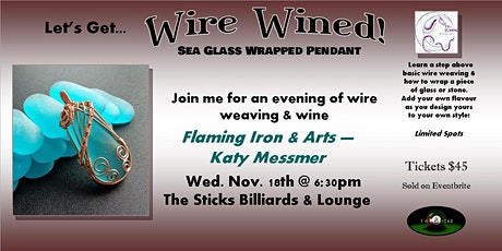 Wire Wined - Sea Glass Wrapped Pendant tickets