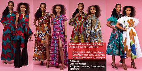 Rahyma African Clothing 3days Shopping event :TORONTO tickets