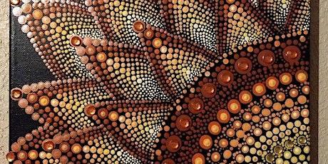 Mandala Dot Painting Harvest Sunflower at Soule' Studio