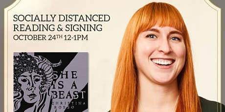 She is a Beast: Socially Distanced Reading & Book Signing tickets