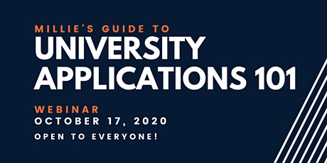 WEBINAR | Millie's Guide to University Applications 101 tickets