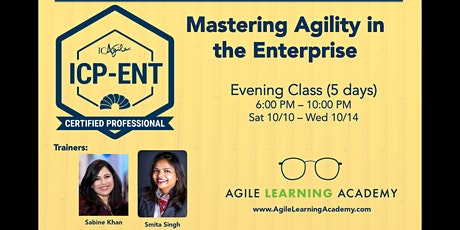 ICAgile - Mastering Agility in the Enterprise (ICP-ENT) tickets