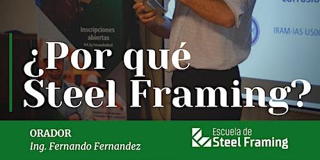 Charla Gratuita ¿Por qué Steel Framing? boletos