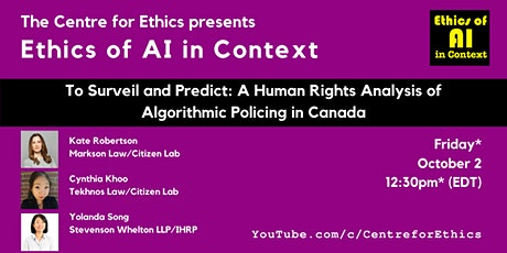 To Surveil and Predict: A Human Rights Analysis of Algorithmic Policing tickets