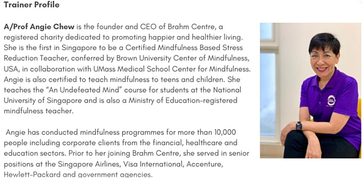 Mindfulness-Based Stress Reduction Course from Mar23 (Grand Hyatt Orchard) image