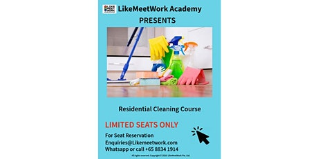Introductory Practical Residential Cleaning tickets