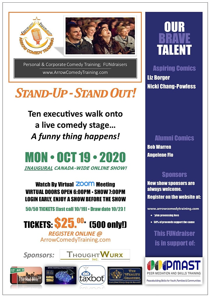 "Arrow Comedy Training: Aspiring Executive Comics ""Stand Up - Stand Out!"" image"