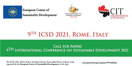 Sustainable Development Conference ICSD 2021 biglietti
