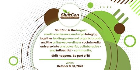 Media Credentials - ShiftCon Eco-Wellness Influencer Conference tickets