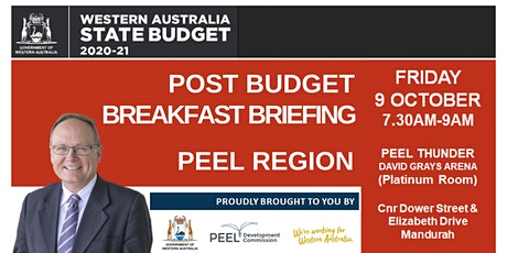2020 Post Budget Breakfast Briefing - Peel region tickets