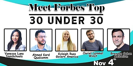 Meet Forbes Top - 30 Under 30 ; Their Journey tickets
