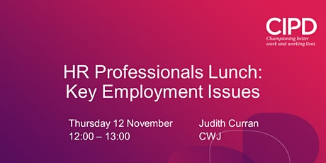 HR Professionals Lunch: Key Employment Issues tickets