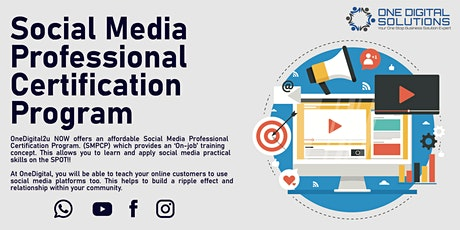 Social Media Professional Certification Program tickets