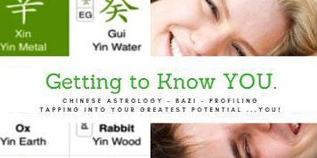 Getting to KNOW you, Beginners Chinese Astrology tickets